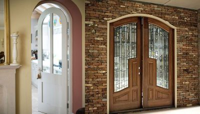 Mẫu cửa gỗ kính 2021