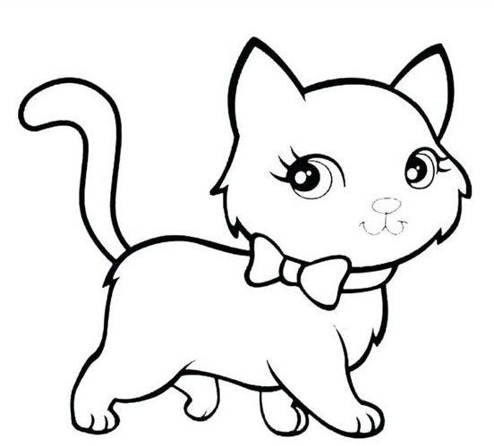 Tranh tô màu con mèo đẹp