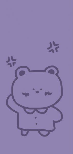 Hình nền màu tím Cute