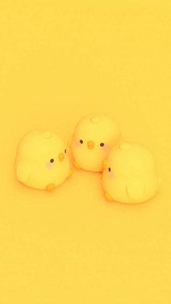 Hình nền màu vàng cute